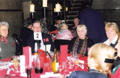 1999 05 Melb 3rd Conference Dinner 02 (L-R) ___, Peter PRIDEAUX, ___, ___