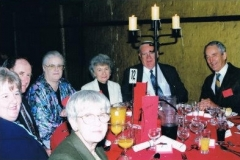 1999 05 Melb 3rd Conf Dinner 11 (rear L-R) Di Christensen, Lorraine Grant, Don Grant, Geoffrey Davey