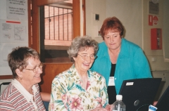 2004 Mildura 5th Conference 05 - Raylee SCHULTZ, Jan GOW - guest speaker from New Zealand, and Lyn CRAIG