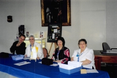 2006 Expo at Melbourne 01 - (L-R) LDS Volunteer, Di CHRISTENSEN, Judith OKE, Judy SEYMOUR